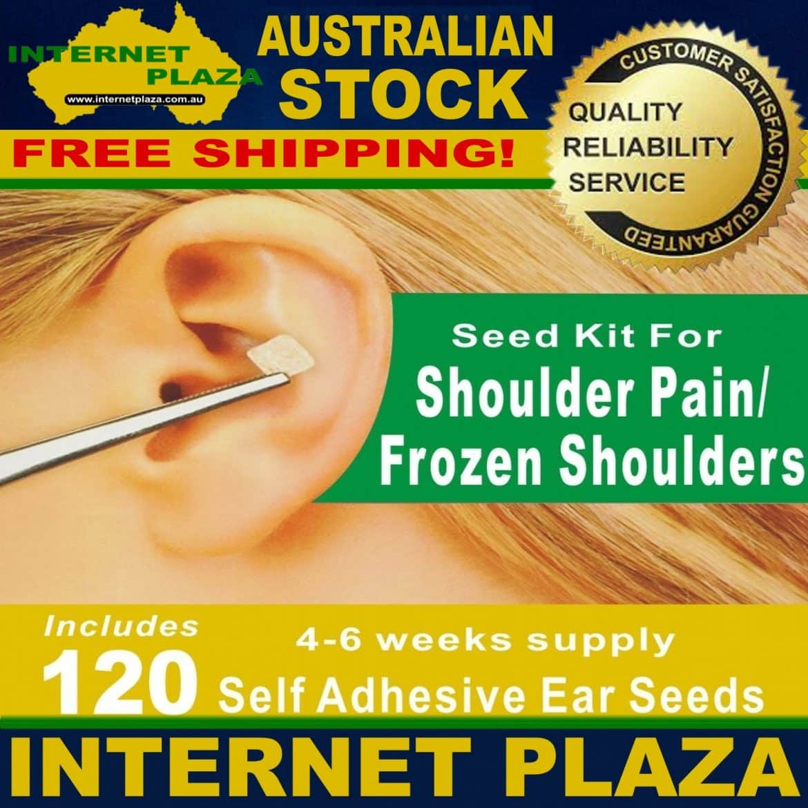 Shoulder Pain Ear seeds Auriculotherapy Kit | Internet Plaza