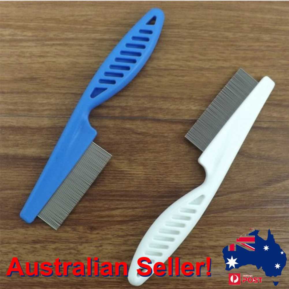 Metal Nit Head Hair Lice Comb with Handle Fine Toothed Flea