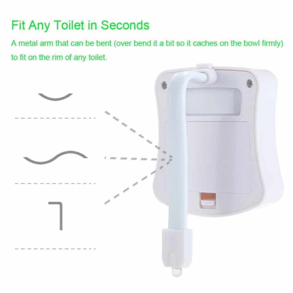 8 Colours Led Toilet Bathroom Night Light Motion Activated